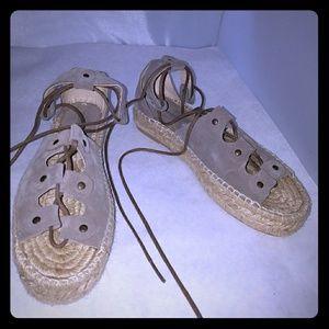 55d8b609b67 Soludos Shoes - Soludos Ghillie Platform Sandal dove gray 7M
